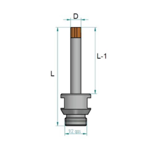 KDrills – FCI – Blind Drill Bits – Junction 1/2″ gas