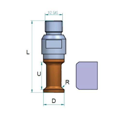 shape T 1/2 gas